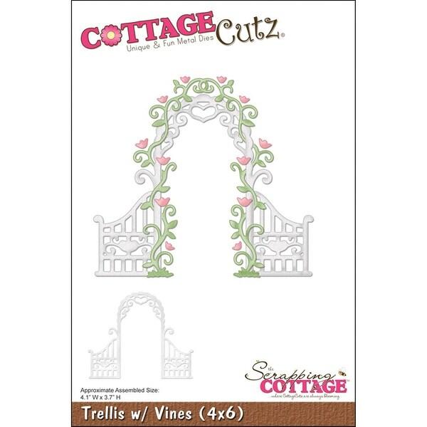 """CottageCutz Die -Trellis W/Vines 4.1""""X3.7"""""""