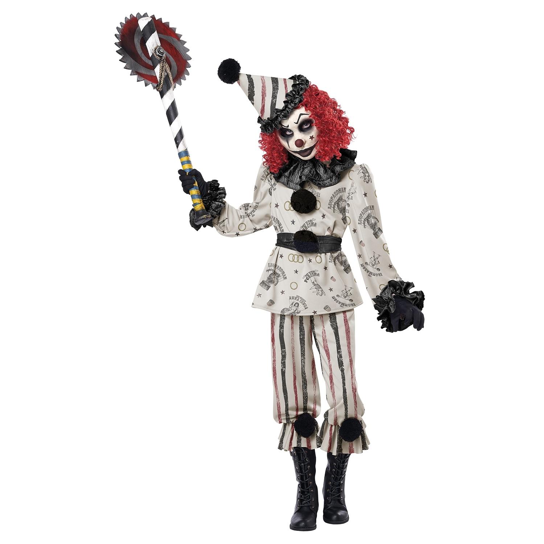 Clown Halloween Costumes For Girls.Girls Creeper Clown Child Halloween Costume