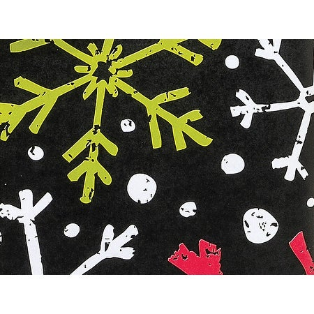 """Pack Of 1, Chalkboard Snowflakes 24"""" x 417' Roll Christmas Premium Gift Wrap Papers For 175 -200 Gifts"""