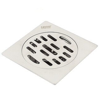 Unique Bargains Bathroom Shower Square Floor Waste Grate Sink Drain 10x10cm