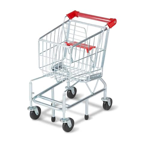 Melissa & Doug 4071 Metal Shopping Cart for Kids, Age 3+ - Silver - N/A