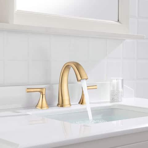"Proox 8"" Widespread Bathroom SpotShield Basin Faucet w/ Drain Assembly"