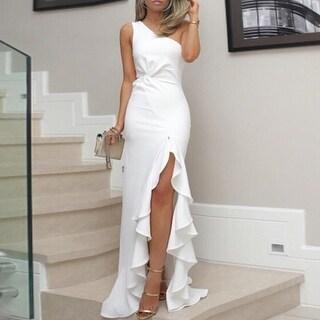 Link to New Split Fork Ruffled Evening Dress Similar Items in Dresses