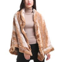 Mad Style Camel Crinkled Collared Cape