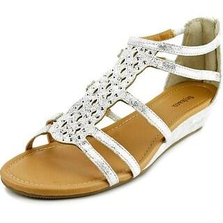Style & Co Blayze Women Open Toe Synthetic Silver Wedge Sandal