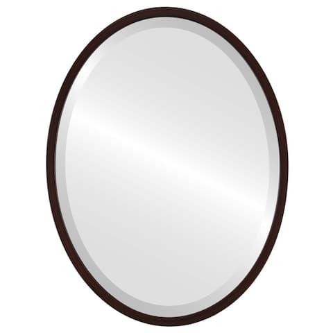 London Framed Oval Mirror - Black Cherry - Black Cherry