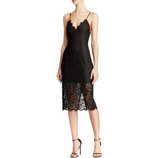 Bardot Womens Sienna Cocktail Dress Lace Midi