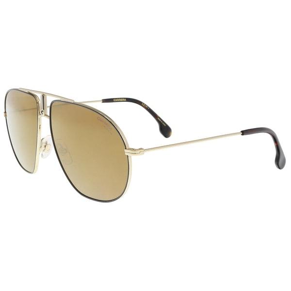 8ac6349845 Shop Carrera BOUNDS 0RHL-K1 Gold Black Aviator Sunglasses - 60-12 ...