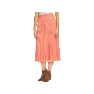 1.State Womens Midi Skirt Pleated Crepe