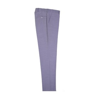 Light Gray Slim Fit Dress Pants Pure Wool by Tiglio Luxe