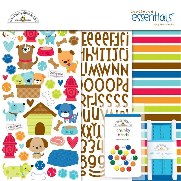 "Doodlebug Essentials Page Kit 12""X12""-Puppy Love"