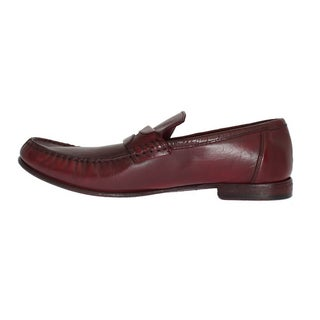 Dolce & Gabbana Red Leather Loafers Shoes - eu44-us11