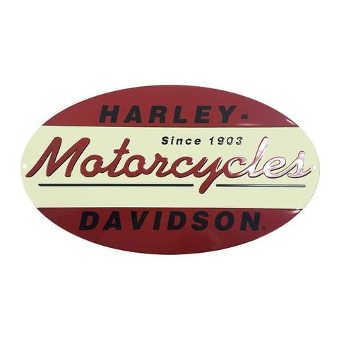 Harley-Davidson Since 1903 Oval Tin Metal Sign 11 x 18 Inch 2010211