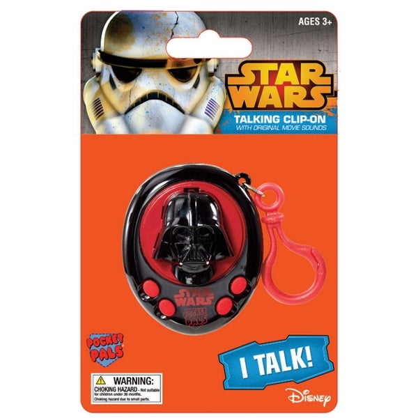 Star Wars Darth Vader Pocket Pal Talking Clip-On Key Ring - Black and Red