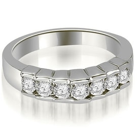0.55 cttw. 14K White Gold Round Cut Diamond Wedding Band