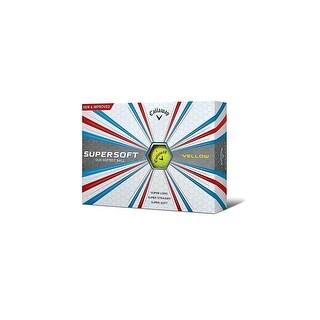 Callaway 2017 Supersoft Golf Balls (One Dozen)-Yellow