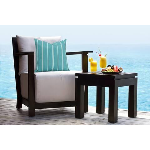 Siscovers Beach Stripe Solarium Indoor/Outdoor Throw Pillow