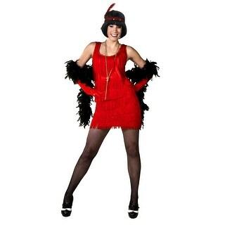 Red Plus Size Flapper Dress