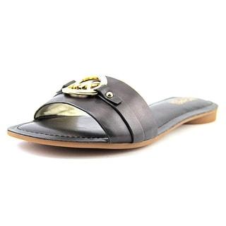 Michael Michael Kors Molly Slide Open Toe Leather Slides Sandal