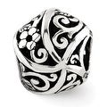 Sterling Silver Reflections Flowers & Vines Bali Bead (4mm Diameter Hole) - Thumbnail 0