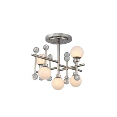 Kalco 508640PN LED Semi Flush Mount Mercer Polished Nickel - One Size
