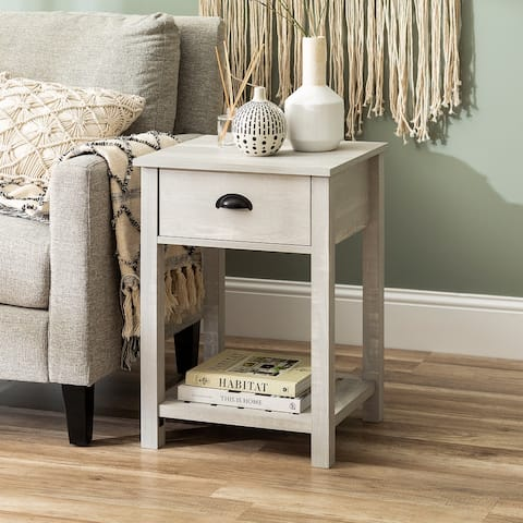 The Gray Barn 18-inch One-Drawer Side Table