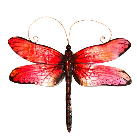 Handmade Dragonfly Red And Black