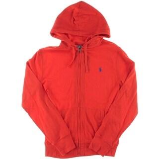 Polo Ralph Lauren Mens Hooded Mesh Knit Basic Jacket - M