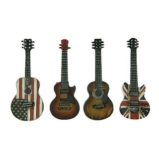 VIntage Classic Country and Rock Set of 4 Guitar Magnets - Multicolored