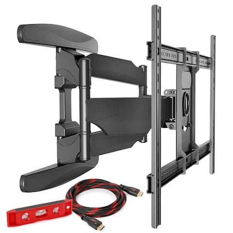 "Full Motion TV Wall Mount 40-70"" Compatible by Mountio - Black"