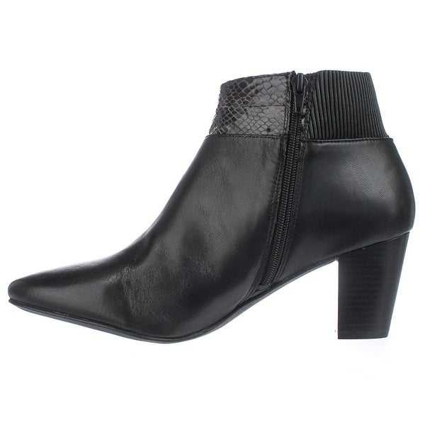 Alfani Womens Palessa Leather Almond Toe Ankle Fashion Boots