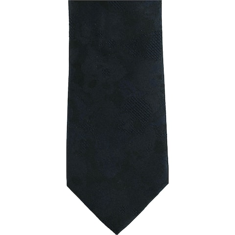 Kenneth Cole Mens Scull Self-tied Necktie, blue, One Size - One Size