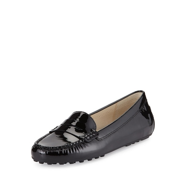 Michael Kors Womens Daisy Leather Closed Toe Loafers