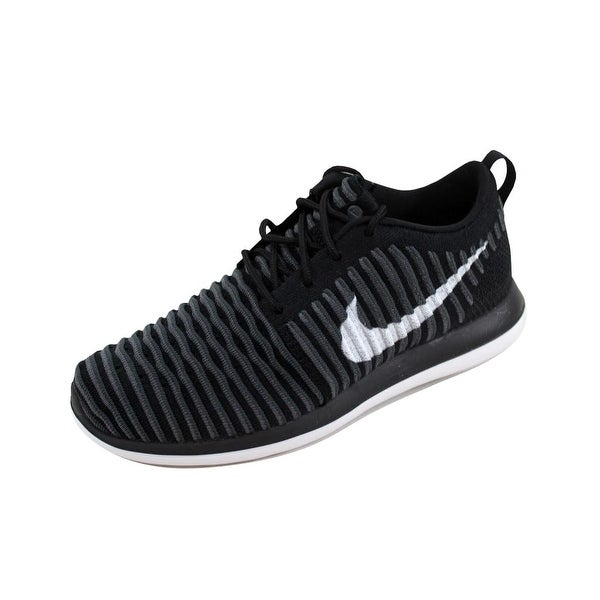 bc79523efbb8d Nike Grade-School Roshe Two Flyknit Black White-Anthracite-Dark Grey 844619