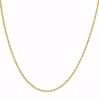 10k Yellow Gold 1.5mm Solid Rope Chain Necklace Lobster Clasp By MidwestJewellery