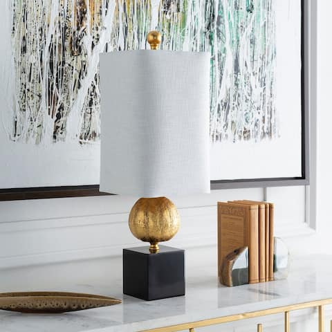Eaya Table Lamp with Gold Base and White Shade