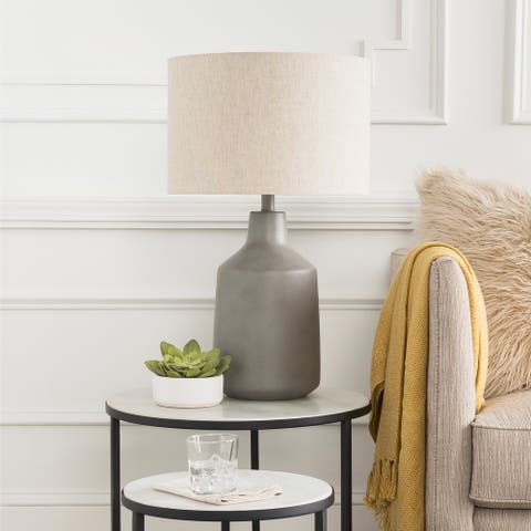 Daloa Table Lamp with Painted Resin Base
