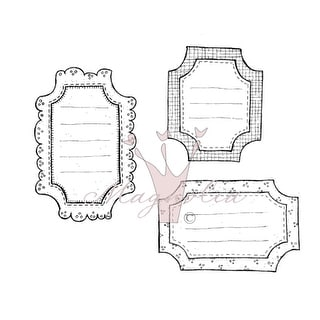 "So Heavenly/School/Travel Cling Stamp 3.75""X6.5"" Package-So Heavenly Tags"