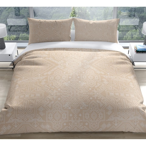 MAMLUK BEIGE Duvet Cover by Kavka Designs