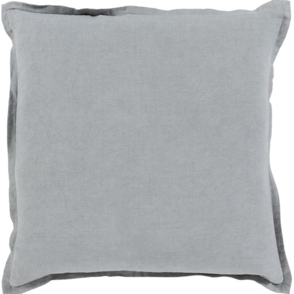 "18"" Stormy Sea Gray Solid Decorative Throw Pillow - Down Filler"