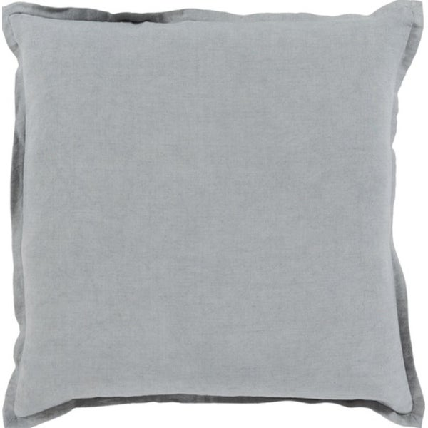"""20"""" Stormy Sea Gray Solid Decorative Throw Pillow - Down Filler"""