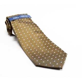 VINCE CAMUTO NEW Yellow Woven Floral Printed Men's Silk Blend Neck Tie