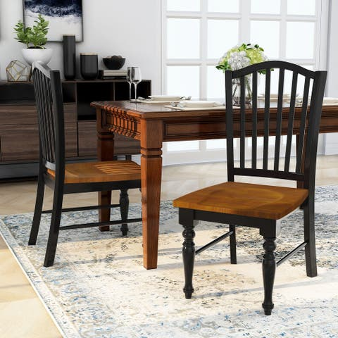 Furniture of America Levole Two-tone Country Style Dining Chairs (Set of 2)