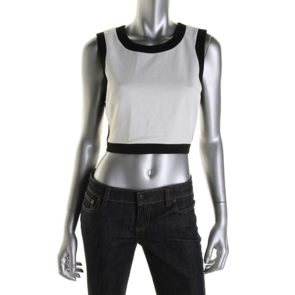 f214baa3105d Shop Bailey 44 Womens Crop Top Ponte Contrast Trim - Free Shipping On  Orders Over $45 - Overstock - 13092141