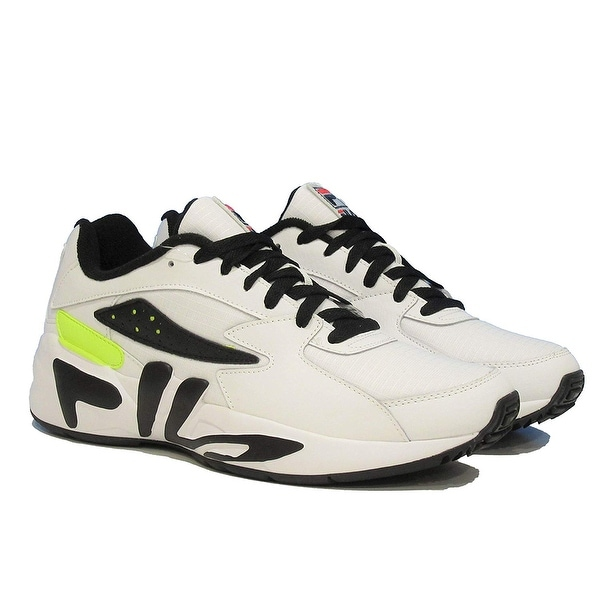 Shop Fila Mens Mindblower Leather Low Top Lace Up Running