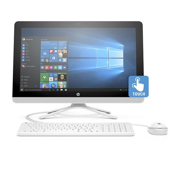 Hp V8n94aa#Aba 23.8 Inch All-In-One Amd A8-Series 1Tb Hard Drive Desktop - Snow White