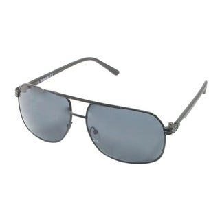 Timberland Sunglass Black ,Mens Metal Aviator Smoke Gradient Lens TB7120 2N - Medium