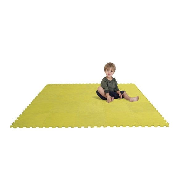 Edushape Puzzle Play Mat Set, 12 Inches, Yellow, Set of 25. Opens flyout.