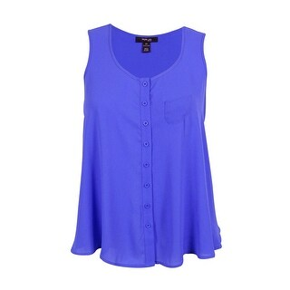 Style& Co. Women's Sleeveless Button Down Blouse