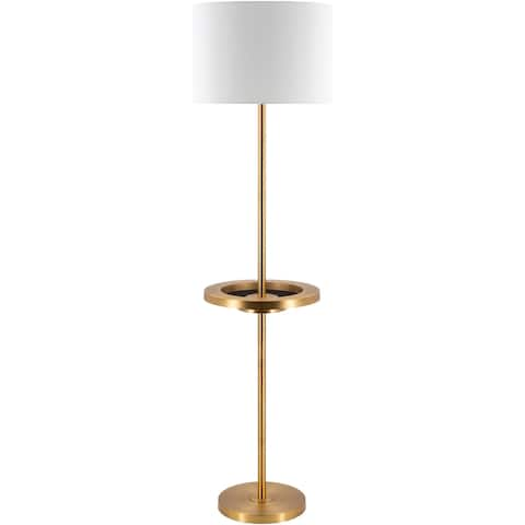 "Alaysha Bronze 62-inch Floor Lamp with USB Port - 62""H x 16""W x 16""D"